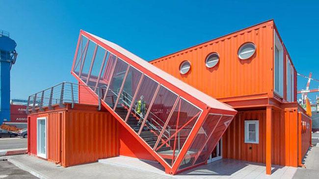 mẫu container văn phòng mới màu sắc nổi bật