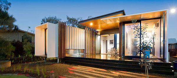 nhà container theo phong cách biệt thự hiện đại