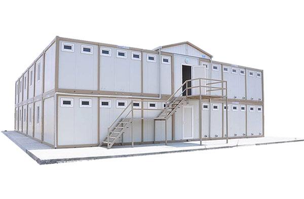 Nhà container lắp ghép làm lán trại công trường, bệnh viện dã chiến