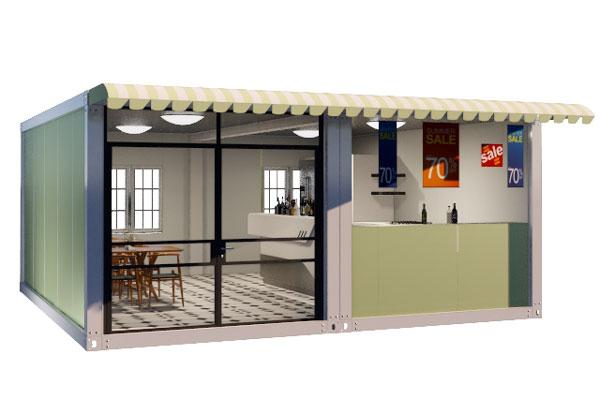 Container-prefab-kiosk